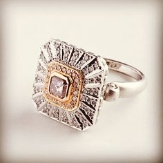 Beautiful Art Deco inspired ring by Angelo Andronis Designer Jewellery