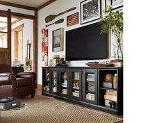 S long low media stand pottery barn cube shelves, living room tv Tv Furniture, Furniture Movers, Furniture Outlet, Discount Furniture, Bedroom Furniture, Pottery Barn, Tv Cabinets, Storage Cabinets, Entertainment Room