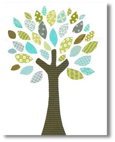 Pépinière+d'arbres++arbre+de+couleurs+impression+par+GalerieAnais,+$14.00