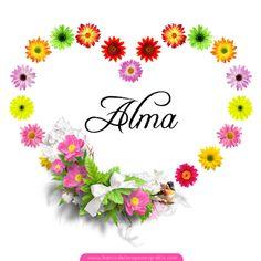 BANCO DE IMÁGENES: 50+2 postales de corazón con flores y nombres de mujeres