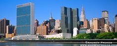 Photos of the United Nations - Fine Art Prints, High-Res Stock Images - Panoramic View of the United Nations and Midtown Manhattan