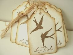 Love Bird Swallow Wedding Wish Tags by CharonelDesigns on Etsy, $4.95
