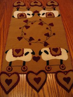 Love for Ewes Table Runner Candle Mat by farmersattic on Etsy, $79.99