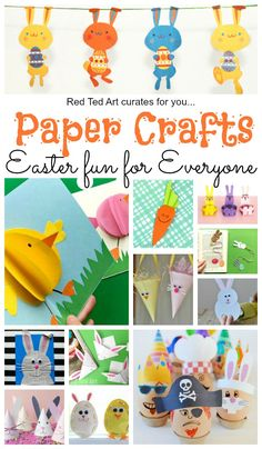 On Red Ted Art we have some Great Easter Paper Crafts - some fabulous cute and easy Paper Crafts For Easter. From Paper Easter Decorations to the best Easter Printables Easter Crafts To Make, Spring Crafts For Kids, Bunny Crafts, Paper Crafts For Kids, Preschool Crafts, Easy Crafts, Easter Activities For Kids, Diy Ostern, Easter Art