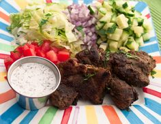 Deconstructed Gyro Salad from the clothes make the girl blog. Calls for lamb but I used beef and the method for cooking the meat leads to complete flavor insanity. Eat this tonight. Our kids (3 & 5) loved it too.