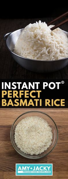 No more uncooked, burnt, or mushy Indian basmati rice. Make Perfect Instant Pot Basmati Rice in 25 mins! Easy, no soaking, set it & forget it. Instant Pot Chinese Recipes, Best Instant Pot Recipe, Instant Pot Dinner Recipes, Best Pressure Cooker Recipes, Instant Pot Pressure Cooker, Pressure Cooking, Slow Cooker, Basmati Rice Recipes, Food Stamps