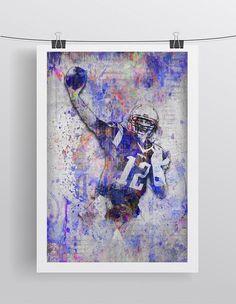 Tom Brady Poster 2, Tom Brady Gift, Tom Brady Colorful Layered Tribute Fine Art