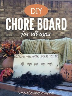 DIY Chore Board for all ages