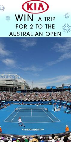#RePin to #Win a Trip for 2 to the Australian Open! #competition #tennis