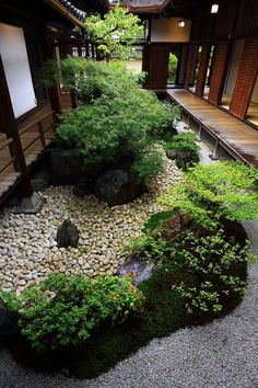 Kanchi-in Garden: various dry landscape waters and an open-air garden with a taste - An idyllic garden at Kanchi-in House in To-ji Temple in Kyoto, Japan Best Picture For tropical gar -