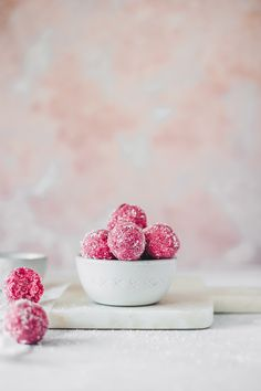 ... raw coconut beet bliss balls ... #vegan