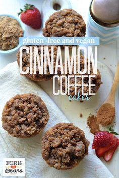 Cinnamon Streusel Mini Coffee Cakes (gluten-free vegan) - Fork & Beans