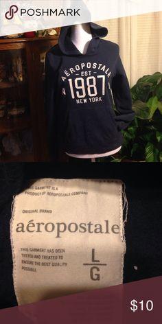 Aeropostale hoodie. Sz Large. Aeropostale hoodie. Sz Large.  Dark navy blue Aeropostale Tops Sweatshirts & Hoodies