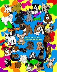 Best Friends Dog and Puppy Clip Art  from The Library Fox