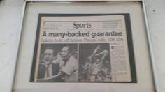 1988 Lakers defeat DETROIT Pistons NBA Championship HERALD Examiner Newspaper