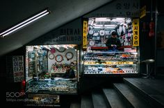 The Watch Stop Taken in an underpass leading to a metro station. There are hundreds of little shops in the underground tunnels linking to the subway. You could stay down here all day and do your shopping! Busan South Korea http://ift.tt/18bzc0l Follow my latest updates on: Facebook | Google | Instagram | Twitter