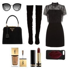 Untitled #75 by weaver-alyssa on Polyvore featuring Sandro, Christian Louboutin, Prada, Dolce&Gabbana, Kendall + Kylie, Gucci and Yves Saint Laurent