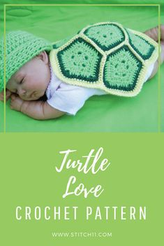 FREE CROCHET PATTERN: Turtle Love Crochet Pattern; This adorable turtle pattern is such an awesome project. Dedicate it to your newborn and reminisce as they grow older. Here's a free pattern to follow. Check this out now. #preemie #photoprop #cute #handmadecrafts #stitch11