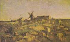 'The Hill of Montmartre also View of Montmartre with Windmills', 1886, Kröller-Müller Museum, Otterlo, Netherlands