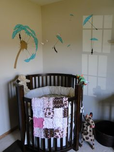 I loveee this crib! Girl Rooms, Baby Rooms, Baby Boy Nurseries, Baby Cribs, Todler Room, Baby Love, Baby Baby, Round Crib Bedding, Round Cribs
