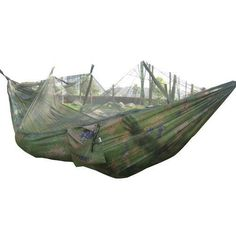 260x130cm portable high strength parachute fabric camping hammock hanging bed with mosquito   sleeping hammock clark vertex 2 person double hammock tent   double hammock and      rh   pinterest