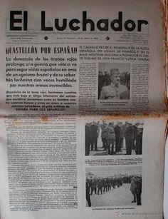 """PERIODICO EL LUCHADOR, 18 DE JUNIO DE 1938 """"CASTELLON POR ESPAÑA""""!!! FRANCO EN PORTADA"""