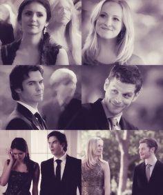Klaus x Caroline Forbes - Joseph Morgan x Candice Accola ~ Klaroline x Damon Salvatore x Elena Gilbert - Ian Somerhalder x Nina Dobrev ~ Delena