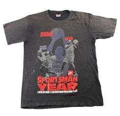 Vintage 90s Nike Michael Jordan Sportsman of The Year Shirt Made in USA Mens…