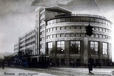 Dieselpunk: Little Flatiron. This multifunctional building, housing a department store, a hotel and a number of municipal offices, was built in Voronezh, Russia in 1930. Design: AI Popov-Shaman