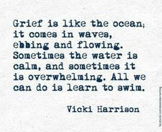 Grief is a truly gut wrenching emotion.. I\'m taking you on my journey on TuesdayInspiration