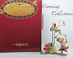 Enesco Miss Merry Mouse Primping Iron Ornament #9 Series 1997 Mice Work Out 9th Treasury of Christmas 9th Collection Exercise