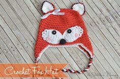 Crochet Fox Hat www.thestitchinmommy.com, free pattern, baby, #haken, gratis patroon (Engels), baby, muts, vos