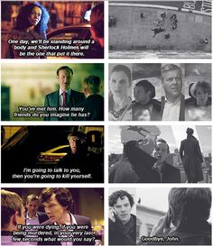 A Study in Pink » The Reichenbach Fall. It's amazing to see the foreshadowing all the way from the beginning. These writers are outstanding
