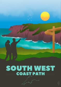 The South West Coast Path is one of the finest coastal walks in the world, with 630 miles of superb coastline.  This print is inspired by my own hikes on different sections of the path, with the dramatic cliffs, quiet coves and rolling hills.  This is a great gift for somebody who's walked in this beautiful area, or ideal to add some colour to your own home. South West Coast Path, Devon And Cornwall, Somerset, Own Home, All Print, Walks, Coastal, Great Gifts, Poster Prints