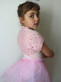 All Knitted Lace: Free Pattern. Little Ballerina Shrug