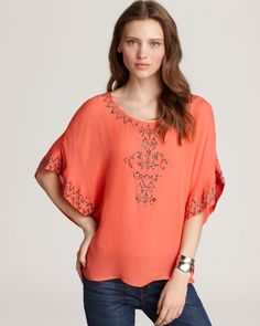 Quotation: Alcee Short Sleeve Top - Hippie Embellished   Bloomingdale's