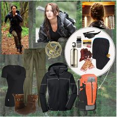 Katniss, truly outdoorsy and functional Hunger Games costume
