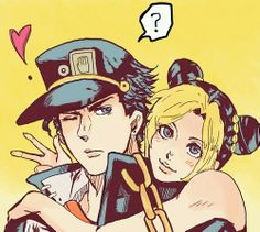 Jotaro and Jolyne Kujo.