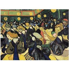 Trademark Fine Art The Dance Hall at Arles 1888 inch Canvas Art by Vincent van Gogh, Size: 35 x 47, Multicolor