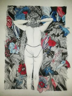 ink drawing by inge van heerde