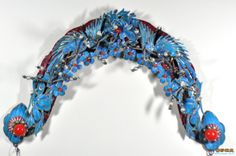diancui traditional chinese kingfisher handcrafts headwear