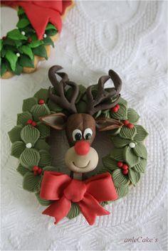 Reindeer & wreath #cupcakes  anlecake´s
