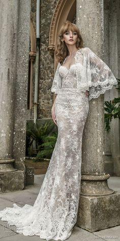 netta benshabu 2017 bridal strapless sweetheart neckline full embellishment elegant sheath wedding dress chapel train (14) mv fv -- Netta BenShabu 2017 Wedding Dresses