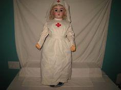 Antique-34-034-Heinrich-Handwerck-Bisque-Socket-Head-Doll-99-Outstanding-MG30