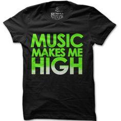 Pánské tričko Music makes me high