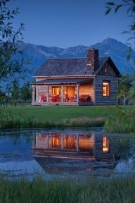 Have always dreamed of having a cabin in the mountains by a lake - life and dreams have to be sweeter in a place like this
