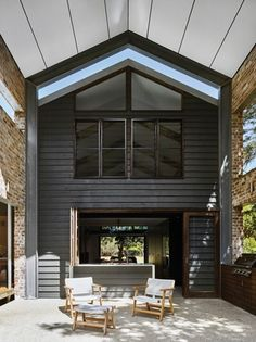 A semi-enclosed barbecue area sits neatly between the kitchen and the deck.