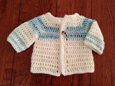 Craft Brag: Crochet Baby Boy Sweater Pattern - Free