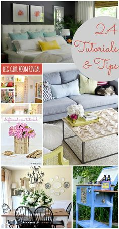 24 inspiring home decor tutorials and tips.