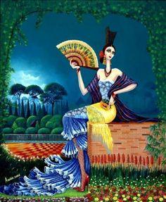 Obra de arte: Gitana con girasol Artistas y arte. Artistas de la tierra
